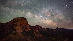 Landscape Mountains Stars Milky Way 3000x2002 Wallpaper