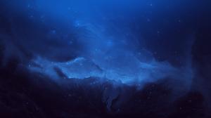 Starkiteckt Space Blue Abstract Nebula Stars 5120x2880 Wallpaper