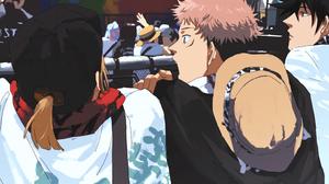 Yuji Itadori Boy Nobara Kugisaki Brown Hair Girl Megumi Fushiguro Black Hair 2339x1654 wallpaper
