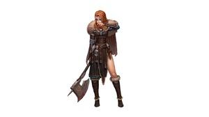 Girl Redhead Viking Weapon Woman Warrior 3200x1700 Wallpaper
