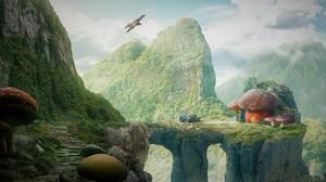 Arch Artistic Canyon Fantasy Mountain Mushroom 2880x1800 Wallpaper
