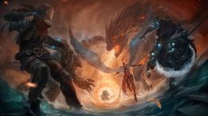 Ezreal League Of Legends Hecarim League Of Legends Kayle League Of Legends Malphite League Of Legend 6000x3436 Wallpaper