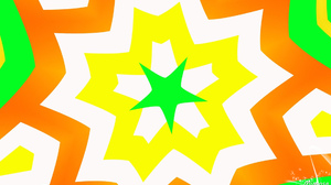 Abstract Artistic Colorful Colors Digital Art Geometry Green Kaleidoscope Pattern Shapes Star White  1920x1080 Wallpaper