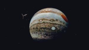 Digital Art Pixel Art Pixelated Pixels Space Universe Planet Pluto Stars Spaceship Satellite Jupiter 1920x1080 Wallpaper