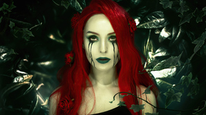 Poison Ivy Dc Comics Red Hair Lipstick 3864x2728 Wallpaper