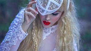 Blonde Bride Lips Long Hair Mood Woman 2048x1408 wallpaper