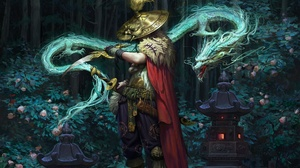 Dagger Dragon Hat Man Warrior 1920x1257 Wallpaper