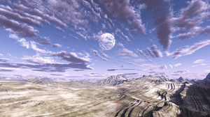 Cloud Desert Landscape Mountain Sky 1600x1200 Wallpaper