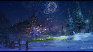 Emilia Re Zero Pack Re Zero Night Fireworks Snowfall 2232x1116 Wallpaper