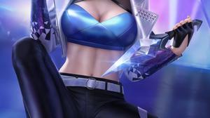 Akali Akali League Of Legends League Of Legends K DA Fictional Character Video Games Video Game Girl 3900x6500 Wallpaper