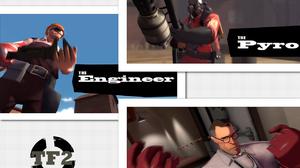 Engineer Team Fortress Medic Team Fortress Pyro Team Fortress 1280x1024 Wallpaper