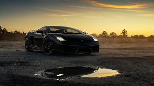 Lamborghini Car Black Car Sport Car Supercar 2048x1152 Wallpaper