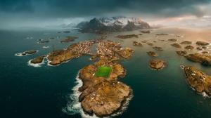 Henningsvar Lofoten Islands Norway 2018x1440 Wallpaper
