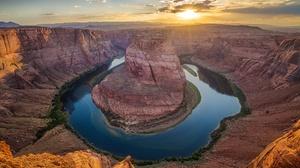 Canyon Colorado Horseshoe Bend Nature River Usa 2048x1365 Wallpaper