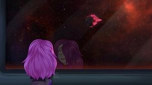 Ash Graven Girl Space Pink Hair 2048x1138 Wallpaper
