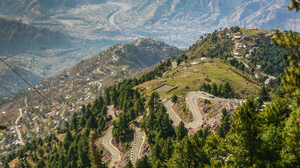 Kashmir Mountain Nature Pakistan Road 3504x2336 wallpaper