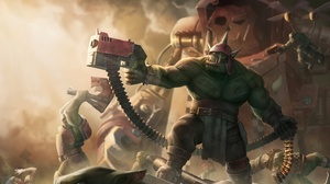 Ork Warhammer 40k Warhammer 40k Warrior Weapon 4000x2468 wallpaper