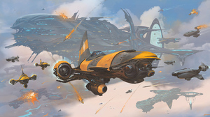 Spaceship 3840x2092 wallpaper