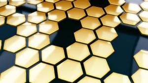 Abstract Artistic Digital Art Hexagon Pattern Shapes 1920x1440 Wallpaper