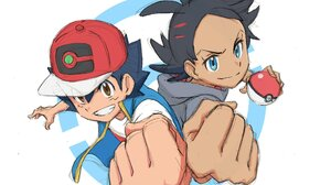 Ash Ketchum Black Hair Blue Eyes Boy Brown Eyes Cap Go Pokemon Pokeball Pokemon Smile 2048x1448 Wallpaper