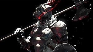 Armor Axe Blood Goblin Slayer Helmet Weapon 3840x2160 Wallpaper