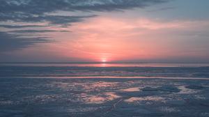Nature Landscape Sun Sunlight Frozen Lake 2981x1677 Wallpaper