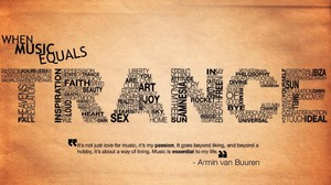 Music Trance Quote 1600x900 Wallpaper