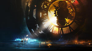 Digital Art T1na Fantasy Art Piano Clockwork Musician 1600x900 Wallpaper