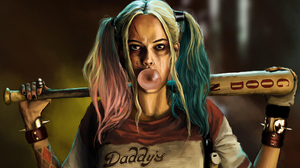 Baseball Bat Dc Comics Harley Quinn Twintails 2153x1211 Wallpaper