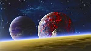 Sci Fi Planets 1920x1100 Wallpaper
