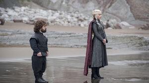 Daenerys Targaryen Emilia Clarke Peter Dinklage Tyrion Lannister 4000x2667 wallpaper