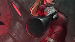 Women Artwork Comic Art ArtStation Baseball Bat Blonde JeeHyung Lee 1080x1640 Wallpaper