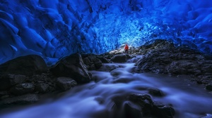 Nature Cave Water Long Exposure Iceland Skaftafell 3000x1762 wallpaper