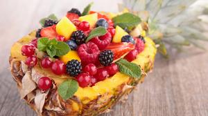 Berry Fruit Pineapple 3600x2400 Wallpaper