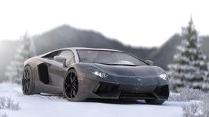 Car Lamborghini Lamborghini Aventador Silver Car Sport Car Supercar Vehicle 5000x2916 Wallpaper