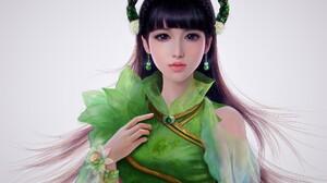 Woman Girl Asian Purple Hair 2000x1588 Wallpaper