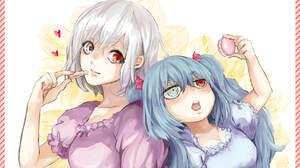 Anime Blue Hair Girl Haise Sasaki Heterochromia Ken Kaneki Lipstick Long Hair Pink Dress Purple Dres 1750x1180 Wallpaper