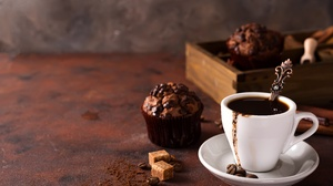 Coffee Cup Cupcake Still Life 6016x4016 Wallpaper