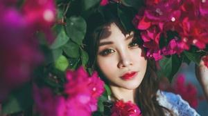 Face Flower Girl Hair 2048x1363 Wallpaper