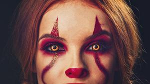 Model Woman Girl Stare Redhead Makeup 3479x2657 Wallpaper