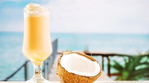 Glass Coconut Drink 5472x3648 Wallpaper