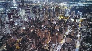 Building City Cityscape New York Night Skyscraper Usa 2048x1365 Wallpaper