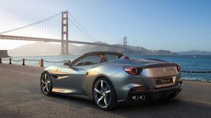 Ferrari Portofino Ferrari Car Vehicle Supercars Italian Supercars Silver Cars San Francisco Golden G 3840x2160 Wallpaper