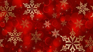 Christmas Pattern Red Snowflake 1920x1080 wallpaper