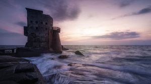 Sea Water Waves Building Outdoors Photography Sky Sunset 1900x1190 wallpaper