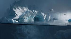 Rostyslav Zagornov Star Wars Artwork Ice Star Wars Ships Science Fiction Water Underwater 1920x1080 Wallpaper