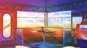 Bogdan MB0sco Digital Art Cafe Coffee Cupcakes Soda Dr Pepper Fire Extinguishers Mountains Clouds Sh 1920x1080 Wallpaper