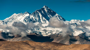 Mount Everest China Snowy Peak Landscape Takayama Clouds 1920x1080 wallpaper