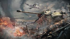 Aircraft Battle Tank War Thunder Warplane 3500x2700 Wallpaper