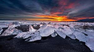 Ice Winter Sunset 1920x1080 Wallpaper